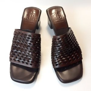 Cole Haan  Chocolate Brown Leather Sandals